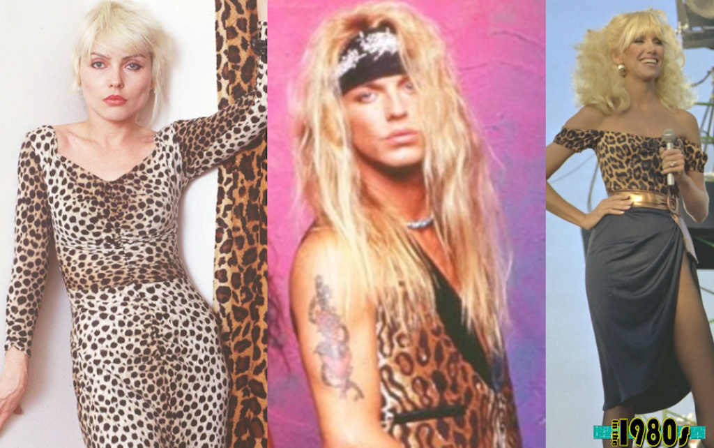 Animal prints were huge in 80s outfits.
