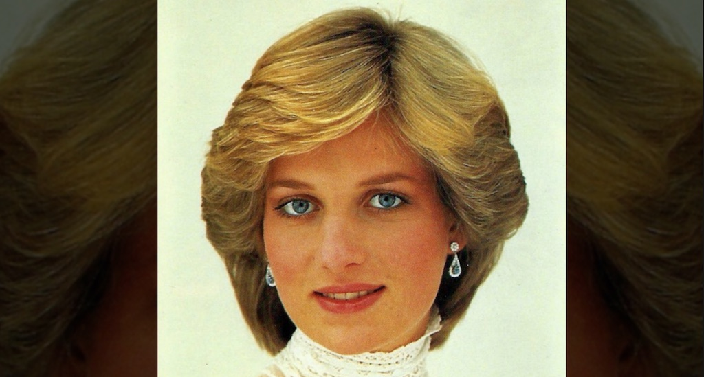 Princess Diana in 1982. Her hairstyle was simple yet elegant.