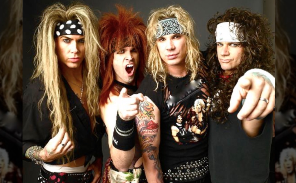 "The band ""Steel Panther"" is a great example of the rock and roll hairstyles of the 1980s."