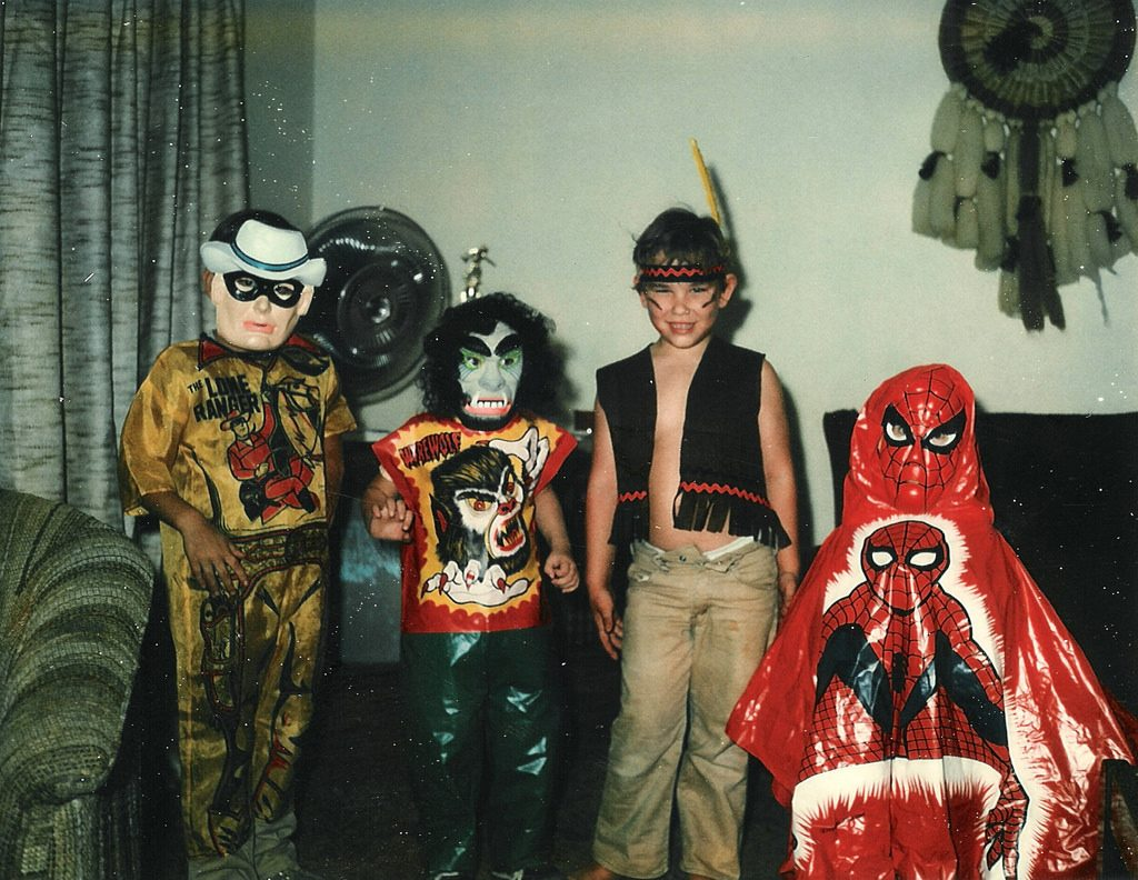 halloween in the 1980s. A 1980 photo of children dressed in Halloween costumes.